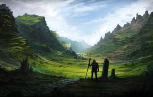 art-dolina-chelovek-siluet